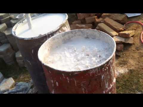 whitewash(chuna) & water mix