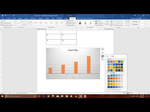 How to create graph in word 2016