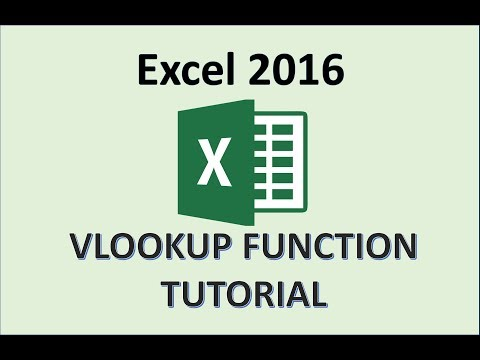 Excel 2016 - VLOOKUP Excel 2016 Tutorial - How To Use and Do VLookup Formula Function in Office 365