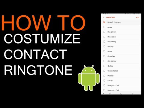 How to change ringtone for specific contact on android Samsung Galaxy