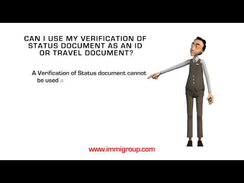 Can I use my Verification of Status document as an ID or travel document?