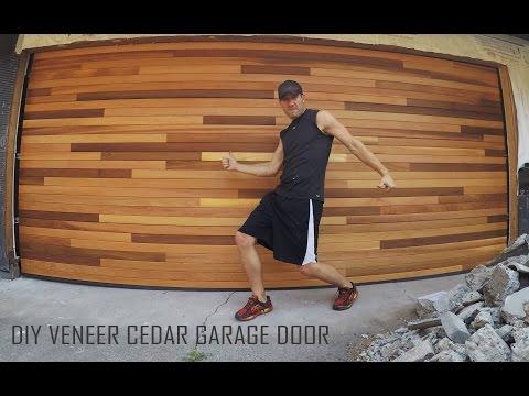 Cedar Tongue & Groove Veneer Garage Door_DIY Installation Time Lapse