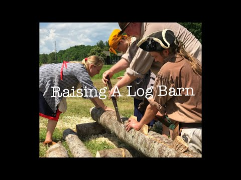 Raising A Log Barn