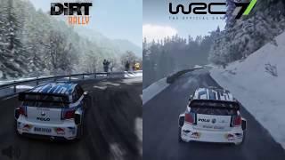 WRC 7 vs DiRT Rally | Comparison | Monte Carlo | VW Polo R WRC
