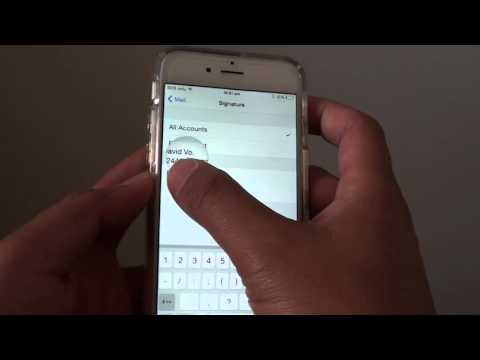 iPhone 6: How to Add / Change Email Signature