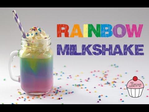 RAINBOW Milkshake Recipe   Unicorn Week @ My Cupcake Addiction