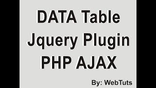 Jquery Bootgrid - Server Side Processing using Ajax PHP - 1 - PakVim
