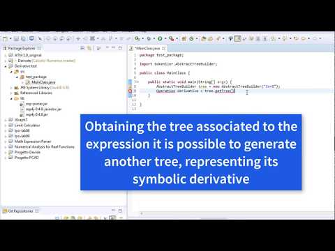 Java Tutorial - Calculating the symbolic and numeric derivative of a function