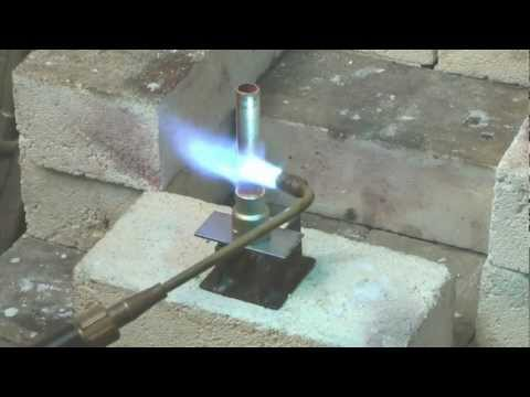 Brazing a copper tube to a brass fitting using a Silver-flo™ 55 Flux Coated Rod
