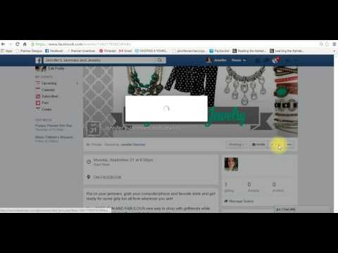 How to Create a FB Event for a Premier Designs Facebook Show
