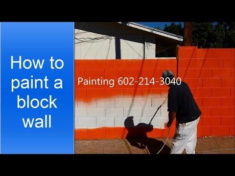 How to paint a cinder block wall.