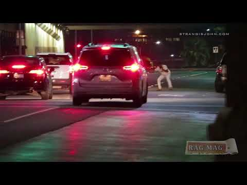 Drunk Idiot in Riverside Almost Gets Run Over