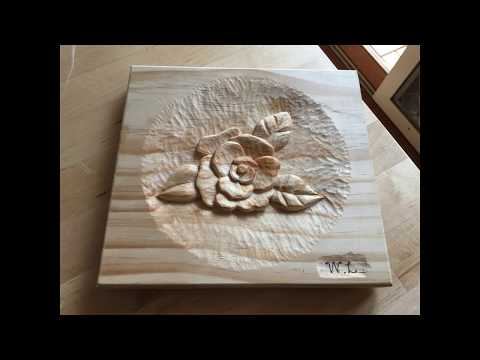 Wood craft - Rose carving