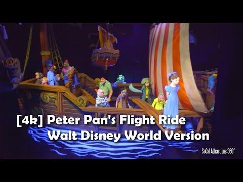 [4K] Peter Pan's Ride  - Walt Disney World Version - Magic Kingdom