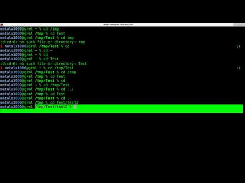 Moving Around the Linux Shell Script Tutorial   Change Directory Folder