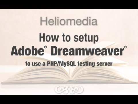 Setup Adobe Dreamweaver for use with a Testing Server