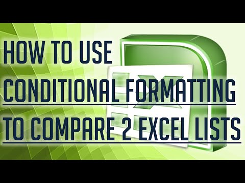[Free Excel Tutorial] HOW TO USE CONDITIONAL FORMATTING TO COMPARE 2 EXCEL LIST - Full HD