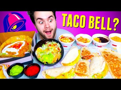 Trying TACO BELL Items You've Never Heard Of! - Fast Food Menu Taste Test!