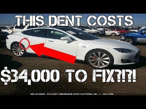 THIS is why body work on a Tesla is RIDICULOUSLY EXPENSIVE!!!