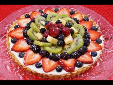 Fruit Tart Recipe: How To Make: With Filling: EASY! Diane Kometa-Dishin' With Di  Video #74