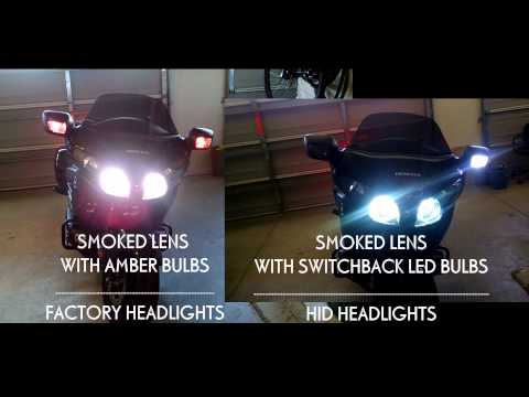 F6B - Factory Headlights vs HID and Switchback LED