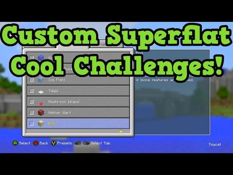 Minecraft Xbox 360 + PS3 TU25 Custom Superflat Explained - Tutorial & Challenges