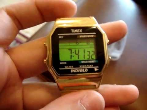 Timex Gold Core Digital Indiglo Watch T78677 Review