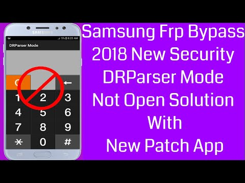 Samsung Frp Bypass New Security DRParser Mode Not Open Solution Without Combination File