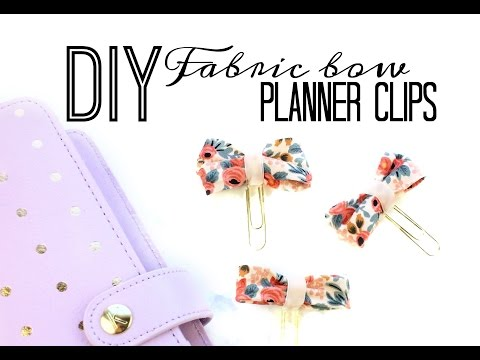 How to Make a Fabric Bow Planner Clip | No Sew | DIY Mother's Day Gift Ideas