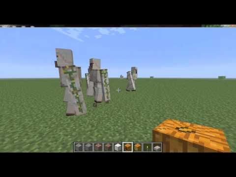 How To Make Iron Golems in MineCraft