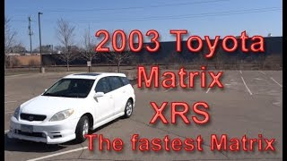 Review: 2003 Toyota Matrix Xrs Manual