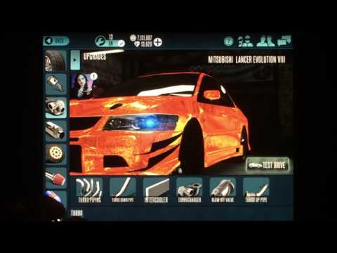 Racing Rivals Mitsubishi Lancer Evolution VIII Maxed Setup Tutorial