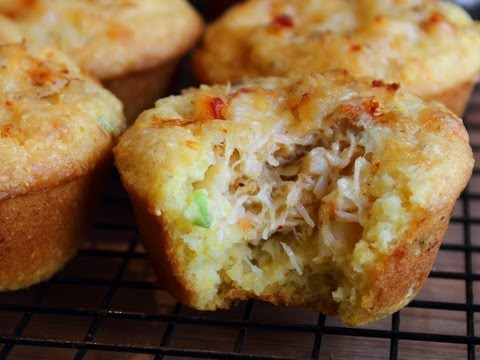 Crab Stuffed Corn Muffins Recipe - Spicy Corn & Crab Cupcakes