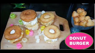 Donut Burgers For Kids | Lock down Special  | Recipe By Maha Khurram.