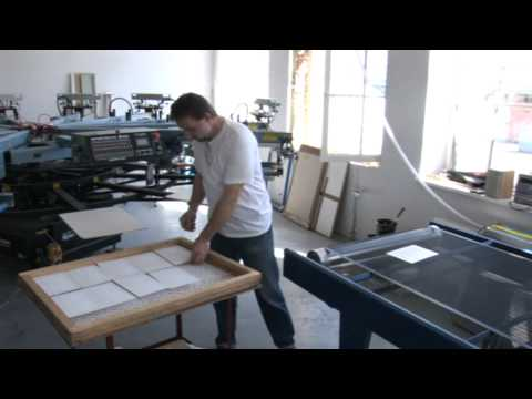 Screen printing on paper and other materials