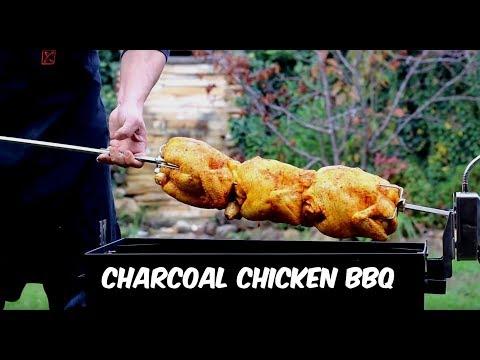 Rotisserie Chicken Recipe 🔥 How to make Charcoal Chicken _ Persian BBO Chicken Recipe 🐔