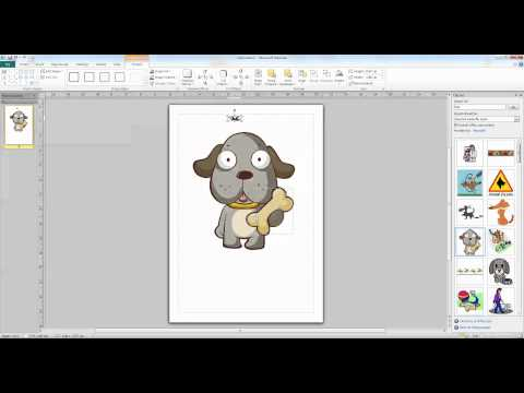 Ungrouping Vector Graphics in Publisher 2010