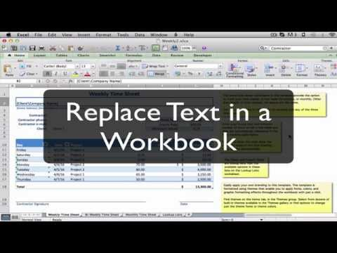 Replace Text in a Microsoft Excel Workbook: Excel MOOC