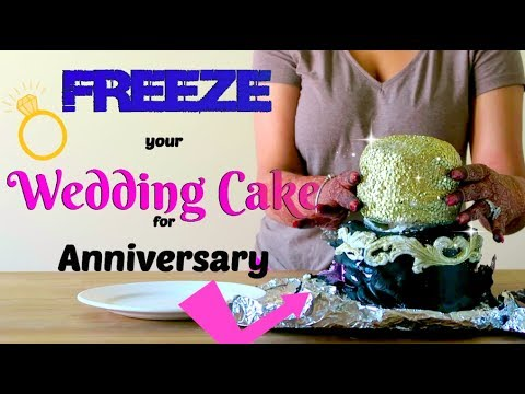 How to Freeze Your Wedding Cake Top