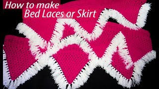 How to make pink and white Bed Laces || पलंग लेस कैसे बनाए || Spark Creative Solutions 2019