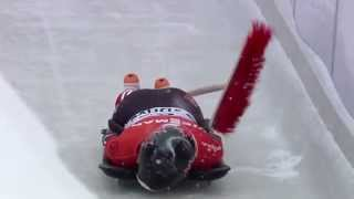 Jane Channell hit by broom during race