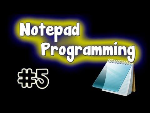 Notepad Programming Tutorial - Small Virus