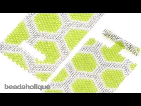 How to Add a Beaded Toggle to a Peyote Stitch Bracelet