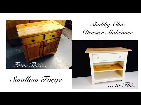 Furniture Upcycling - turning an old dresser into a shabby chic baby changing unit