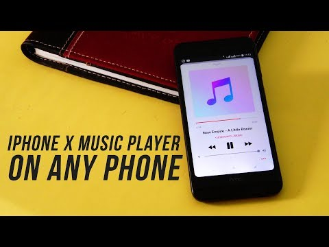 Get iPhone X Music Player on Any Android Phone : Ported from iOS 11