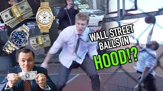 "Wall Street Businessmen Hoop In The HOOD! ""Who The F$%K Are They!?"" 😱"