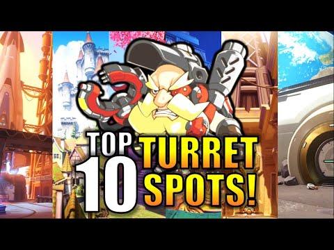 TOP 10 BEST TURRET SPOTS in Overwatch