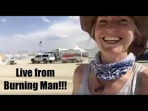 Live from Burning Man build!!