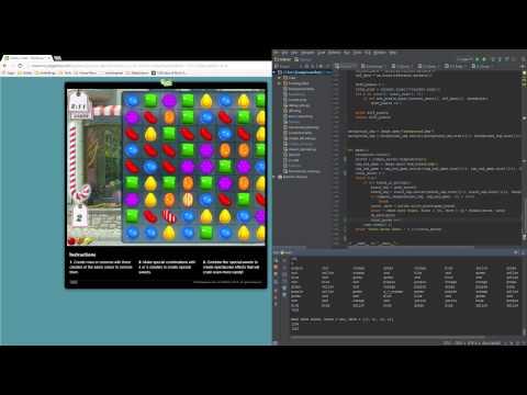 Python bot that plays candy crush