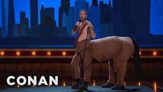 """Jon Dore Just Came From """"Hercules: The Musical""""  - CONAN on TBS"""